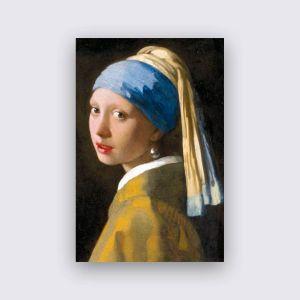 Dibond Weiss - Mädchen mit der Perle