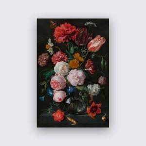 Dibond Weiss - Stilleben Blumen 2