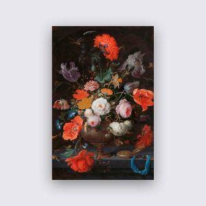 Dibond Weiss - Stilleben Blumen 1